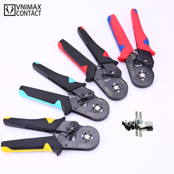 Tubular Terminal Crimping Tools HSC8 6-4A Pliers For 0.06-10mm2 28-7awg Terminals High Precision Electrical Pliers Clamp Sets