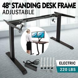 Электрический стоячий стол рама с двойным мотором регулируемая высота основание