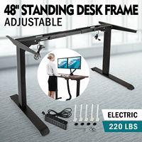 Marco de escritorio eléctrico de pie con Base de pie ajustable de altura de Motor Dual|  -