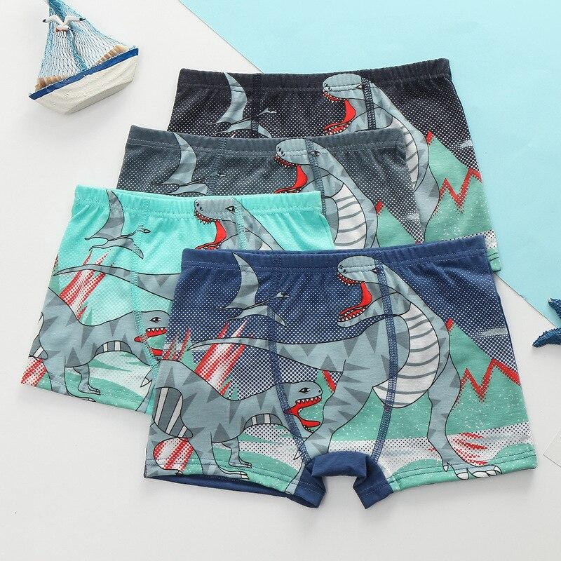 3pcs/lot Children Underwear Soft Breathable Kids Boys Boxers For 2-9T Baby Panties Dinosaur Panty Briefs Child Underpants