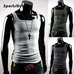 Image 1 - SPORTSHUB Cotton Sports Tops Tanks Gym Bodybuilding VEST Singlet Fitness Vest Summer T Shirt Mens Sport Jersey SAA0007