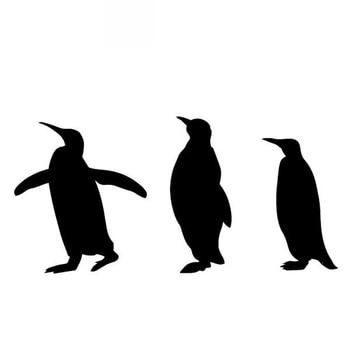 Car Sticker Penguin Decoration Body Pattern PVC Accessories Creative Black/white,16cm*8cm