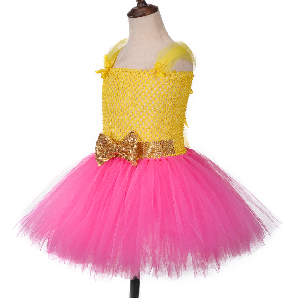 Image 3 - Princess Girls Lol Tutu Dress with Headband Cute Girl Birthday Party Dresses Kids Carnival Halloween Lol Dolls Cosplay CostumeDresses   -