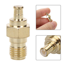 1pc High Quality SMA Female Jack To MCX Male Plug RF Coax Adapter Gold Plating 50 Ohm Connector(China)