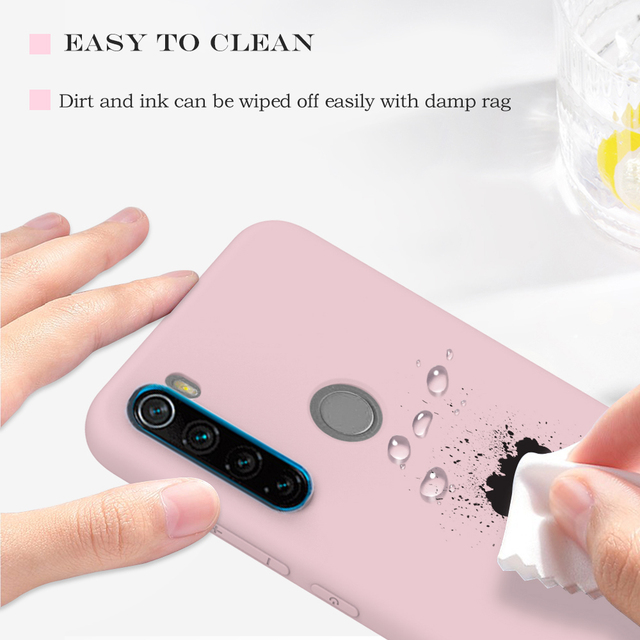 Candy Solid Color Soft Silicone Case For Xiaomi Redmi Note 8T 8 7 7A 6 6A 5 Pro Soft TPU Matte Phone Cover For Redmi Note 9 9S 6