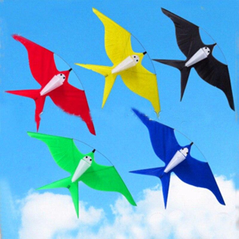Livraison gratuite de haute qualité 5 pcs/lot hirondelles cerf-volant avec poignée ligne ripstop nylon tissu aigle cerf-volant volant hcxkite usine