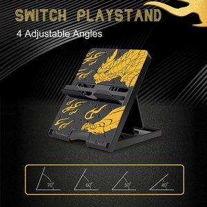 Image 3 - Monster Hunter Foldable Holder Adjustable Bracket Base NS Lite Protective Shell Hard Cover Case For Nintendo Switch Accessories