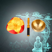Буддизм с подушкой чаша Поющий металлический колокольчик Релаксация буддистское Исцеление медитация тибетский