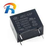 Relay 555 HF-32F-024-HS3 10PCS JZC 32F-G-005 012 Hongfa 4PIN 5A 10A Original