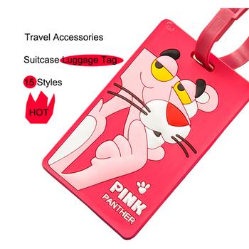 Kawaii Doraemon Tag bagażowy śliczne akcesoria podróżne Tag żel krzemionkowy walizka ID Addres Holder bagaż na pokład Tag przenośna etykieta tanie i dobre opinie Żel krzemionkowy Akcesoria podróżnicze 6 5inch CH-106 0 03kg Tagi bagaż 10 5cm Silica Gel Animal prints Fashion Cute Kawaii