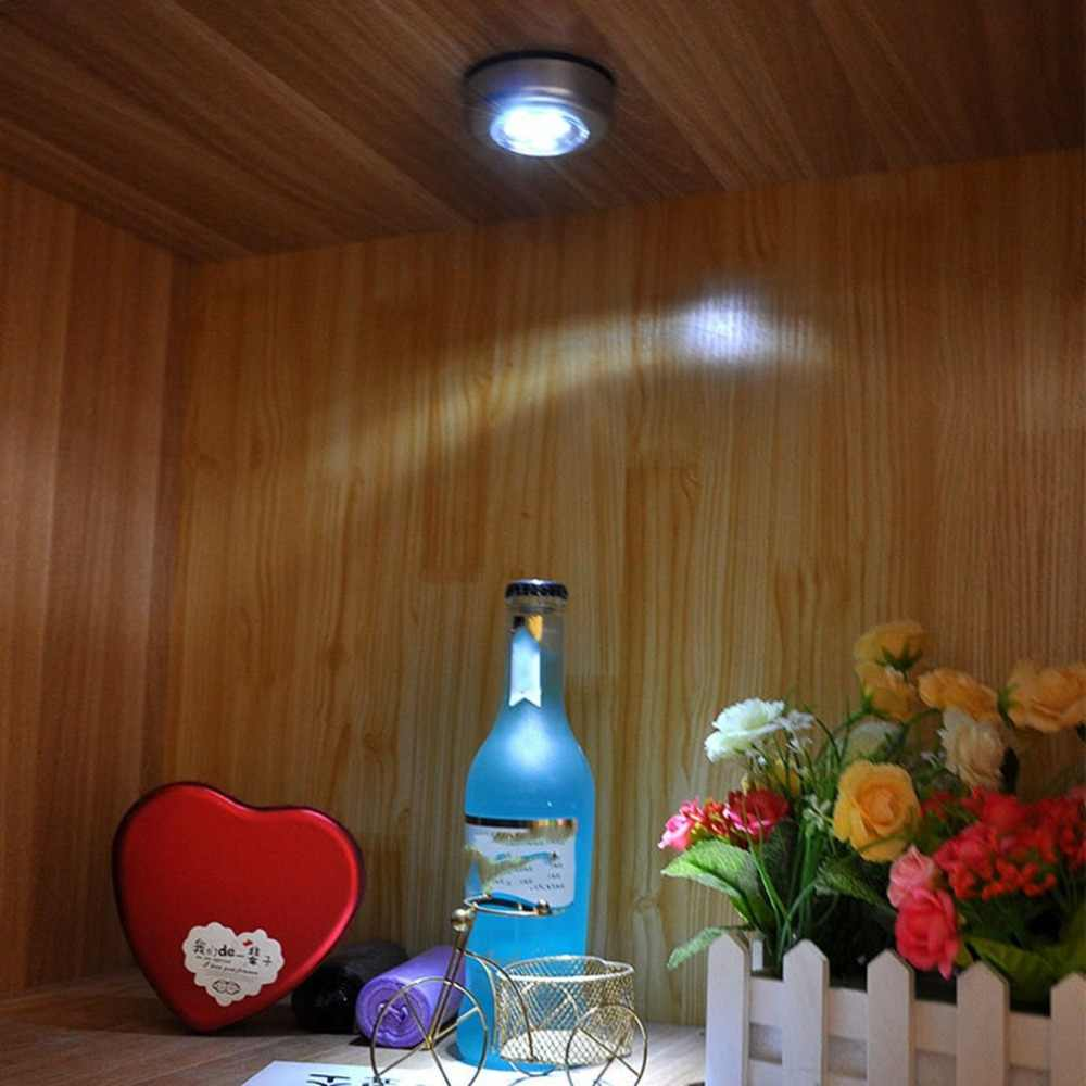 3 Led pequeña lámpara táctil/luz DE EMERGENCIA pasta creativa/dormitorio luz de noche pegatina lámparas de noche Envío Directo