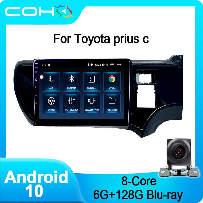 COHO для Toyota Prius C RHD Android 10 Octa core 6 + 128G Автомобильный мультимедийный плеер автомобильный радиоприемник стерео