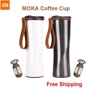 Image 1 - Xiaomi Kiss kiss fish Moka Stainless Smart Coffee Cup Thermal Vacuum Water Bottle App Rmote Control Sensitive Temperature Sensor