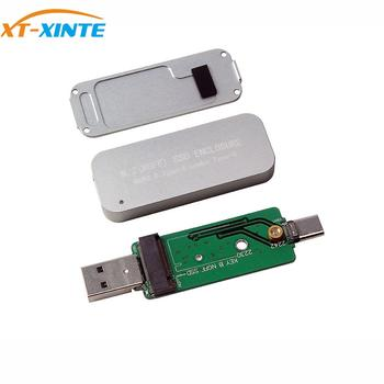 USB3.0 to M.2 SSD Enclosure USB Type-A Combo Type-C for NGFF OTG Cellphone Laptop Computer PC 2230 2242 HDD Mobile Drive Case
