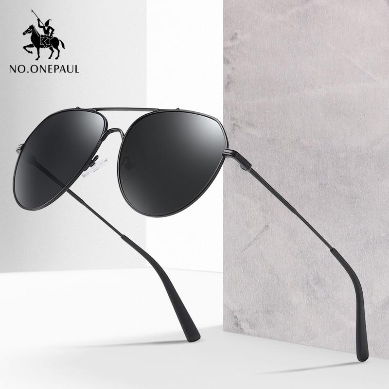 NO.ONEPAUL Brand Fashion Sunglasses Glasses Driving Fishing Eyewear Men Metal Frame Male Sun Men UV400 Polarized Square