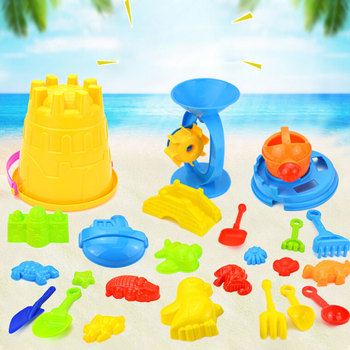 25 Pcs Set Children Beach Toys Bath Play Mold For Sand Tools Castle Barrel Baby Home Beach Play Toys Sand Molds Tool Water Game sand mold toys castle clay mold building model beach toys for kids child baby r9ue