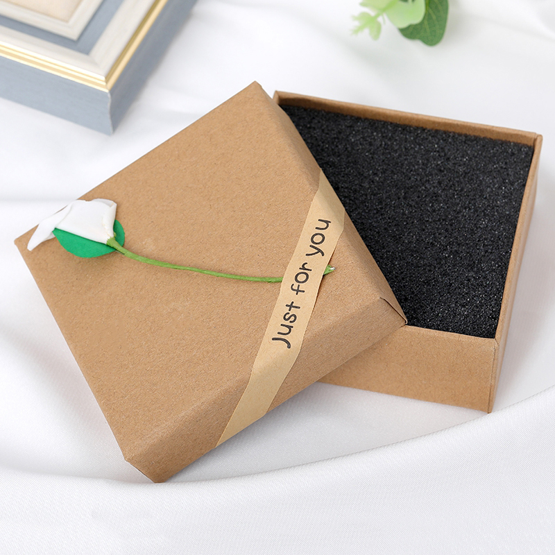 Exquisite Jewelry Packaging Display Box Ring Earring Bracelet Necklace Gift Box