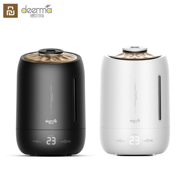 Upgraded Deerma Air Humidifier F600 smart Touch Sensitive Screen Timing Silent Household 5L Large Capacity F600 Essential oil