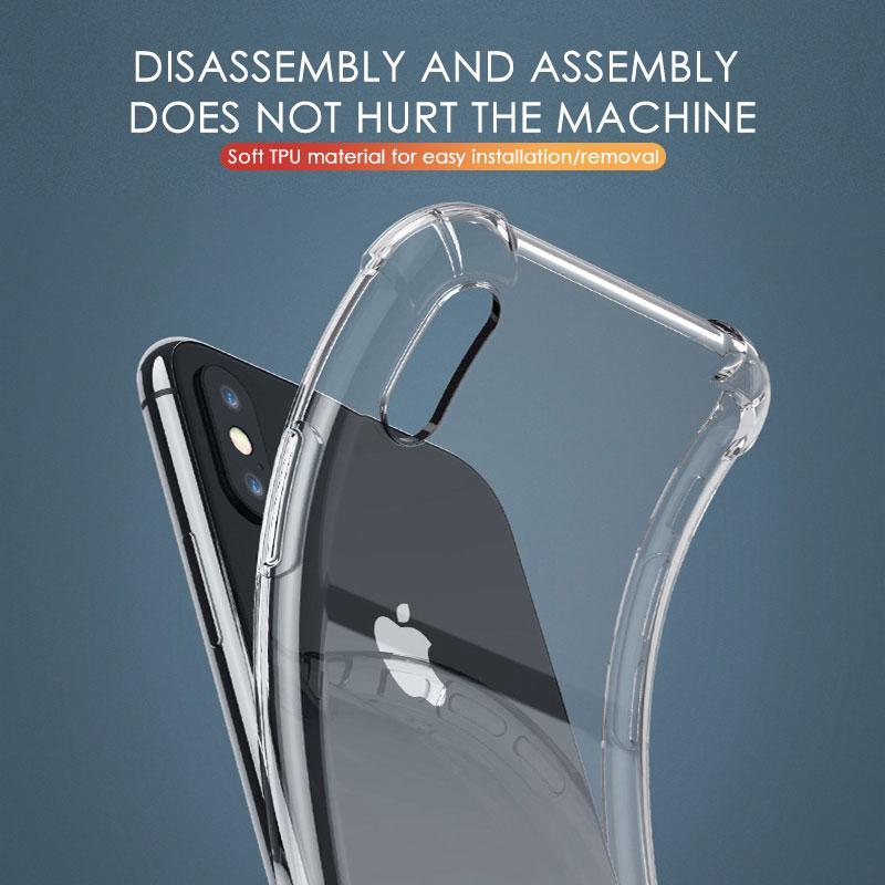 Custodia in Silicone antiurto di lusso per iPhone 11 7 8 6 6S Plus X XR XS 11 12 Pro Max custodia protezione trasparente Cover posteriore 2