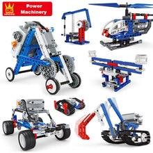 Compatible Mechanic Gears Power building blocks Steam MOC Technique Machinery Motor Electric Set Educational DIY Bricks Kids Toy