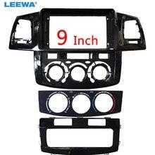 Автомобильный радиоприемник LEEWA, рамка с адаптером для Toyota Hilux VIGO, большой экран 9 дюймов, 2Din, CD/DVD, панель, комплект для крепления приборной па...