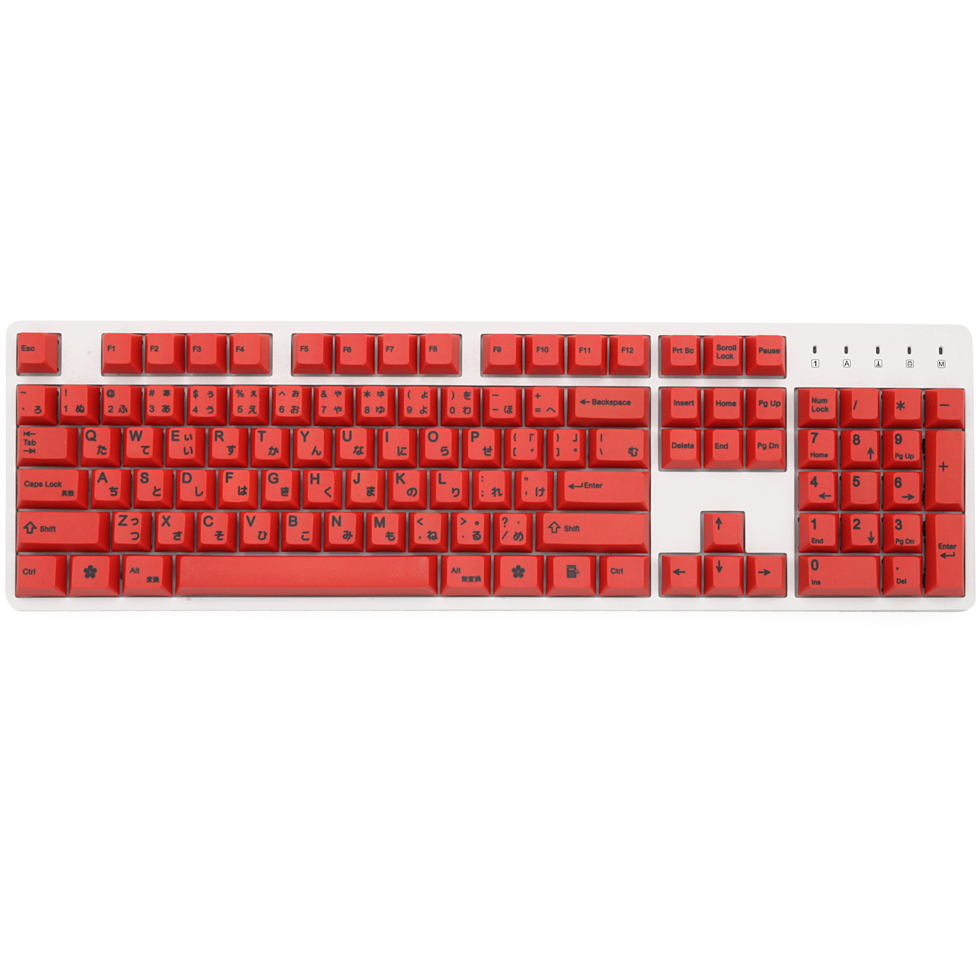 Red 139 Japanese root Japan black font language Cherry profile Dye Sub <font><b>Keycap</b></font> PBT for gh60 xd60 xd84 cospad <font><b>tada68</b></font> 87 104 image