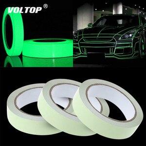 Image 1 - Светоотражающая лента для автомобиля, 1 см, 3 м, стикер для автомобиля, автомобильные аксессуары, светильник, светящийся предупреждающий сигнал, светящийся в темноте, ночной стикер ленты, стикер, безопасная наклейка DIY