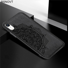 For iPhone XR Case Soft TPU Frame Cloth Fabric Shockproof Anti-knock Phone Cover Funda BSNOVT