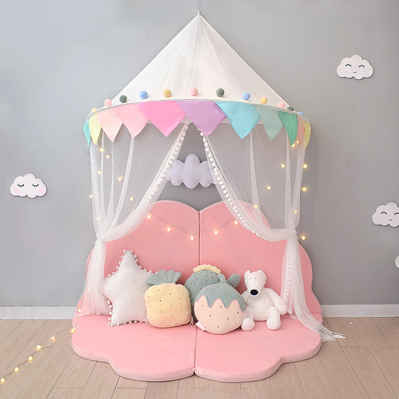 Children's tent play house princess castle reading corner indoor wall hanging baby mosquito net kids room decoration gifts