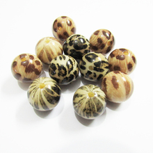 Wholesale New Design 20mm 100pcs/lot Chunky Acrylic  Leopard printed Beads