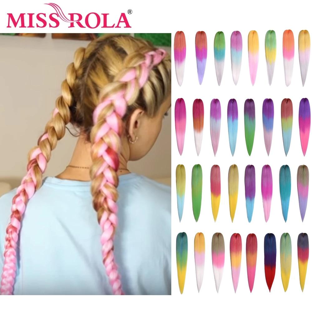 Miss Rola 26 дюймов 75 г Kanekalon волосы оптом косы синтетические волосы удлинитель предварительно растянутые розовые блонд твист Джамбо косы