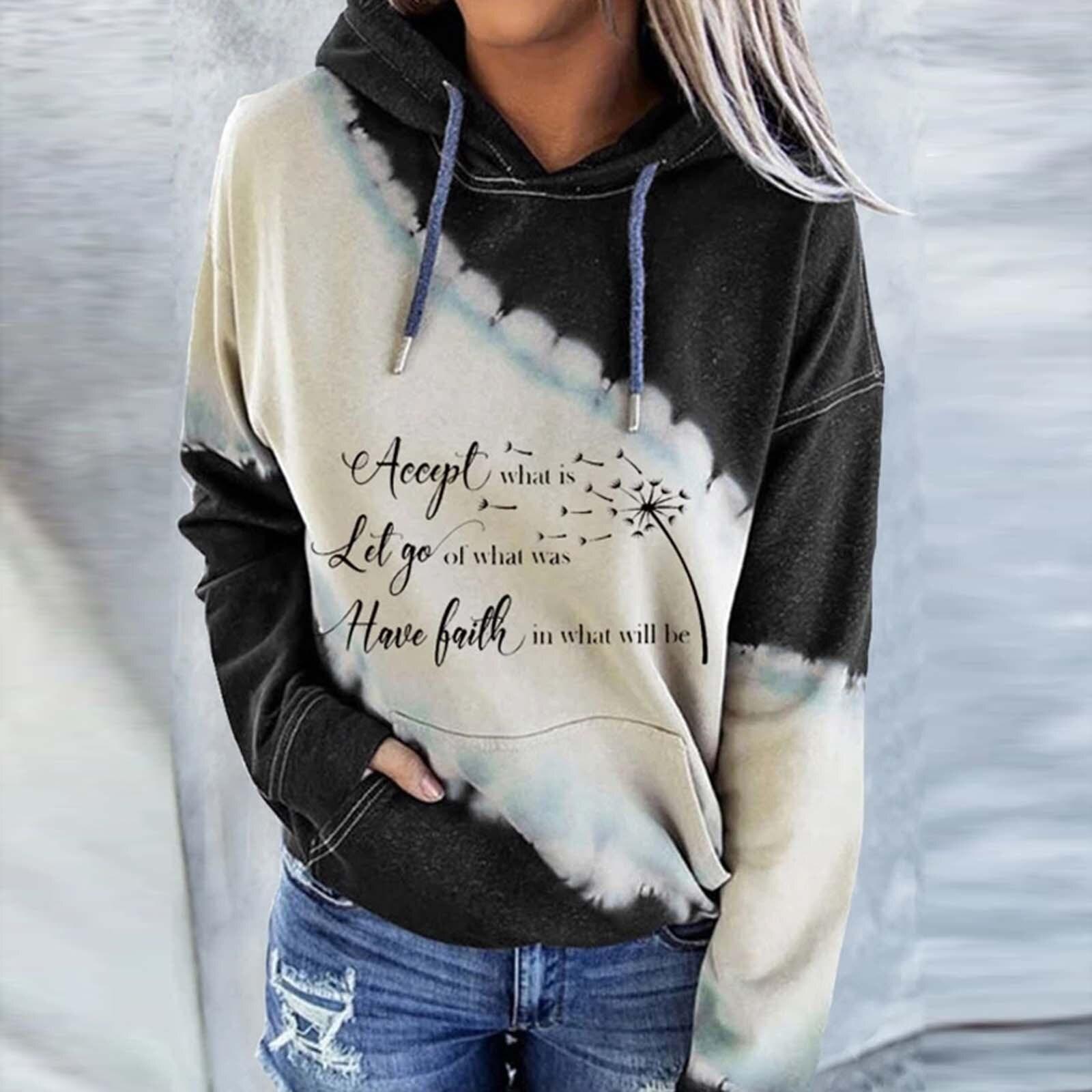 best sweatshirt women fashion star printed hoodies near me and get free  shipping - a835