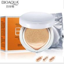 BIOAQUA Air Cushion BB Cream Concealer Moisturizing Foundation Makeup Bare Strong  Dark Skin Whitening Cream Face Beauty Makeup