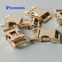 20pcs 15mm gold metal belt buckles quick side release buckle clip clasp snap hook DIY dog collar paracord backpack accessories