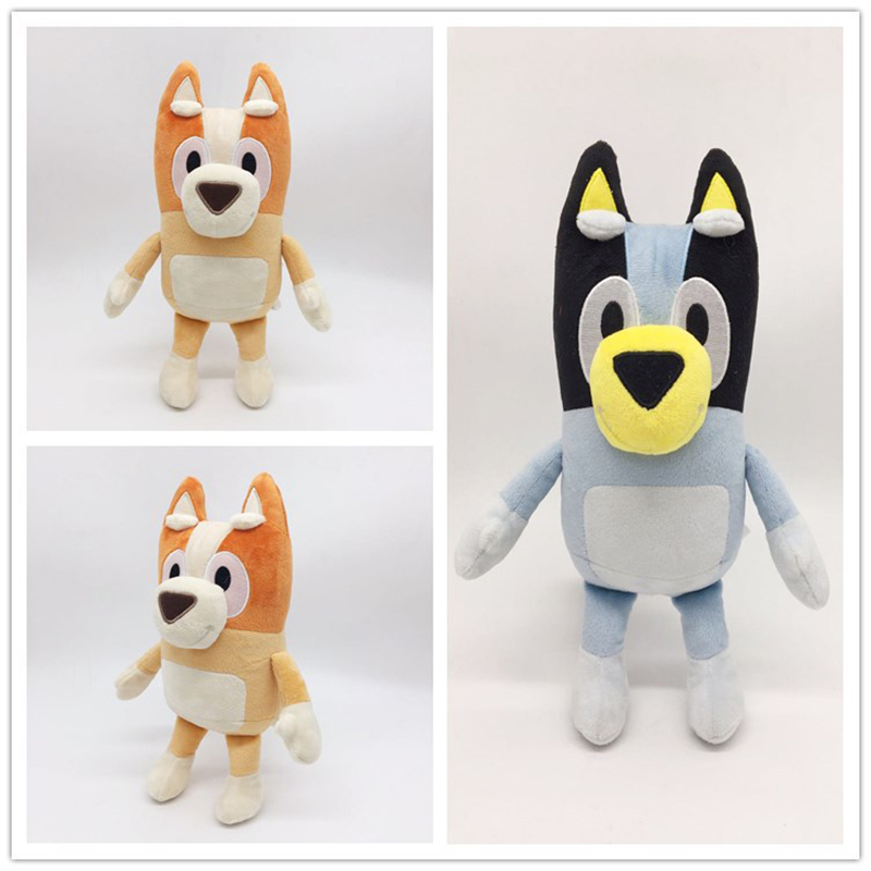 28cm Cartoon Bluey Bingo Plush Toy Figure Stuffed Animal Dog Dolls Lovely Puppy Toys Children Gift