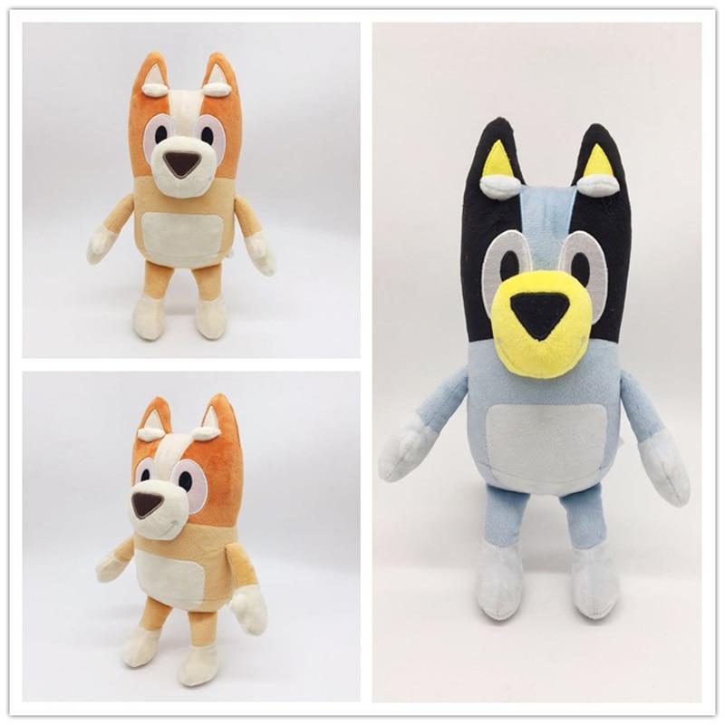 28cm Cartoon Bluey Bingo Plush Toy Figure Stuffed Animal Dog Dolls Lovely Puppy Toys Children Gift