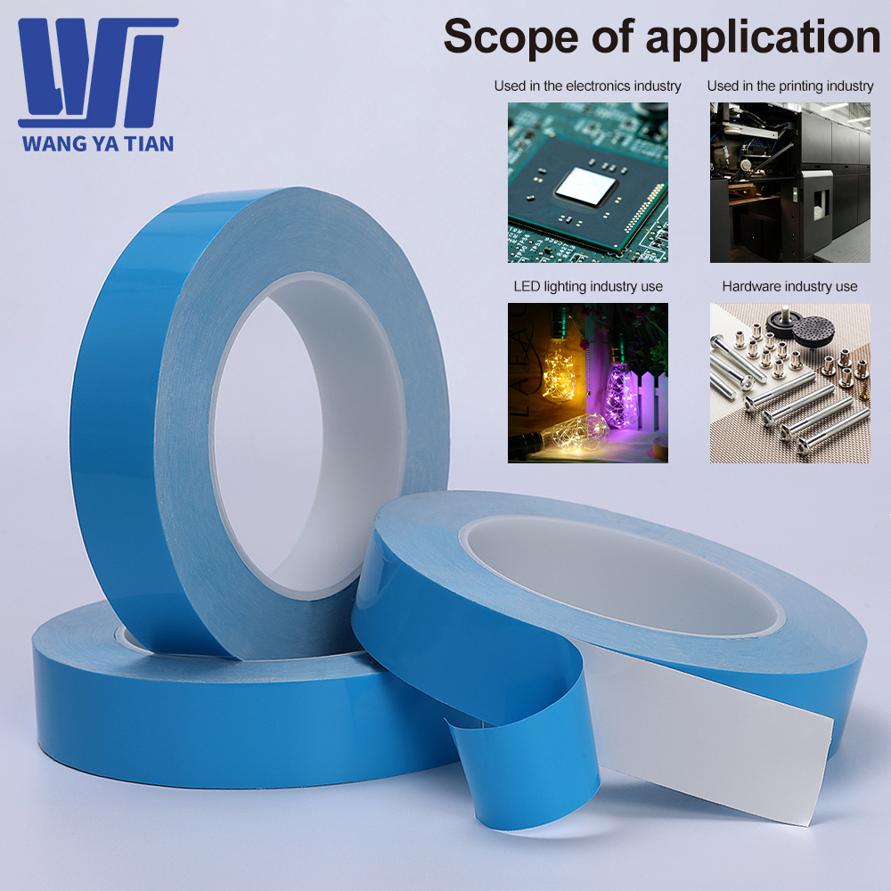 5m 10m/Roll 8mm 10mm 12mm 20mm Width Transfer Tape Double Side Thermal Conductive Adhesive Tape for Chip PCB LED Strip Heatsink