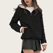 2019 New Parkas Basic Jackets Female Women Winter Plus Velvet Lamb Hooded Coats Cotton Winter Jacket Womens Outwear Coat цена