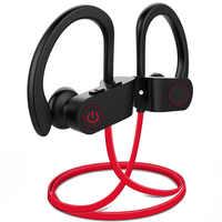 BassPal U8 Wireless Earphones Waterproof IPX7 Sport Bluetooth Headphones w/Mic Richer Bass HD Stereo Sweatproof In Ear Earbuds