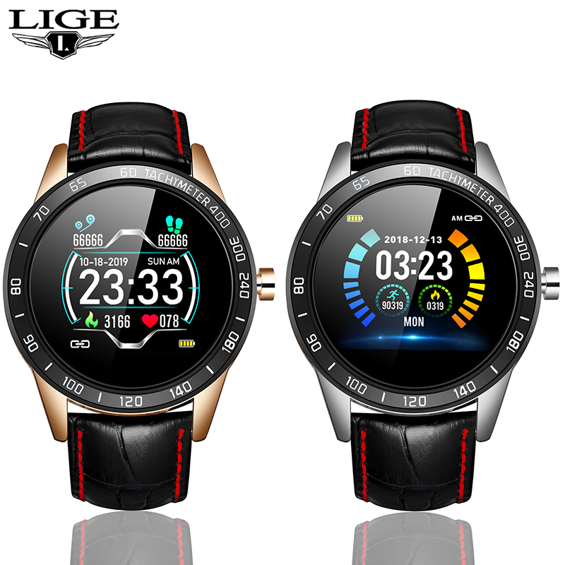 LIGE Traditional Quartz Watch Appearance Smart Watches Waterproof Heart Rate Blood Pressure Monitor Sport Watch Smart Men Watch