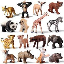 1 sztuk Mini dzikie Zoo Farm afryki sawanna lew król zwierząt ptak serii Leopard kot pantera Jaguar zabawkowy Model dla dzieci prezent dla dzieci