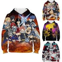 Children fairy tail 3d printing hoodie toddler cartoon sweatshirt