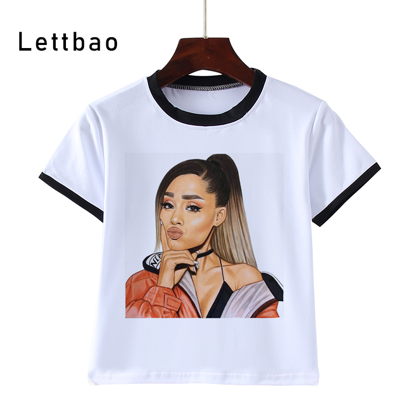 Ariana Grande Vintage Print Kawaii Boys Girls T Shirt Cartoon Funny Kids Clothes Tshirt For Girl