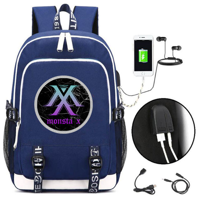 MONSTA X BACKPACK WITH USB (10 VARIAN)