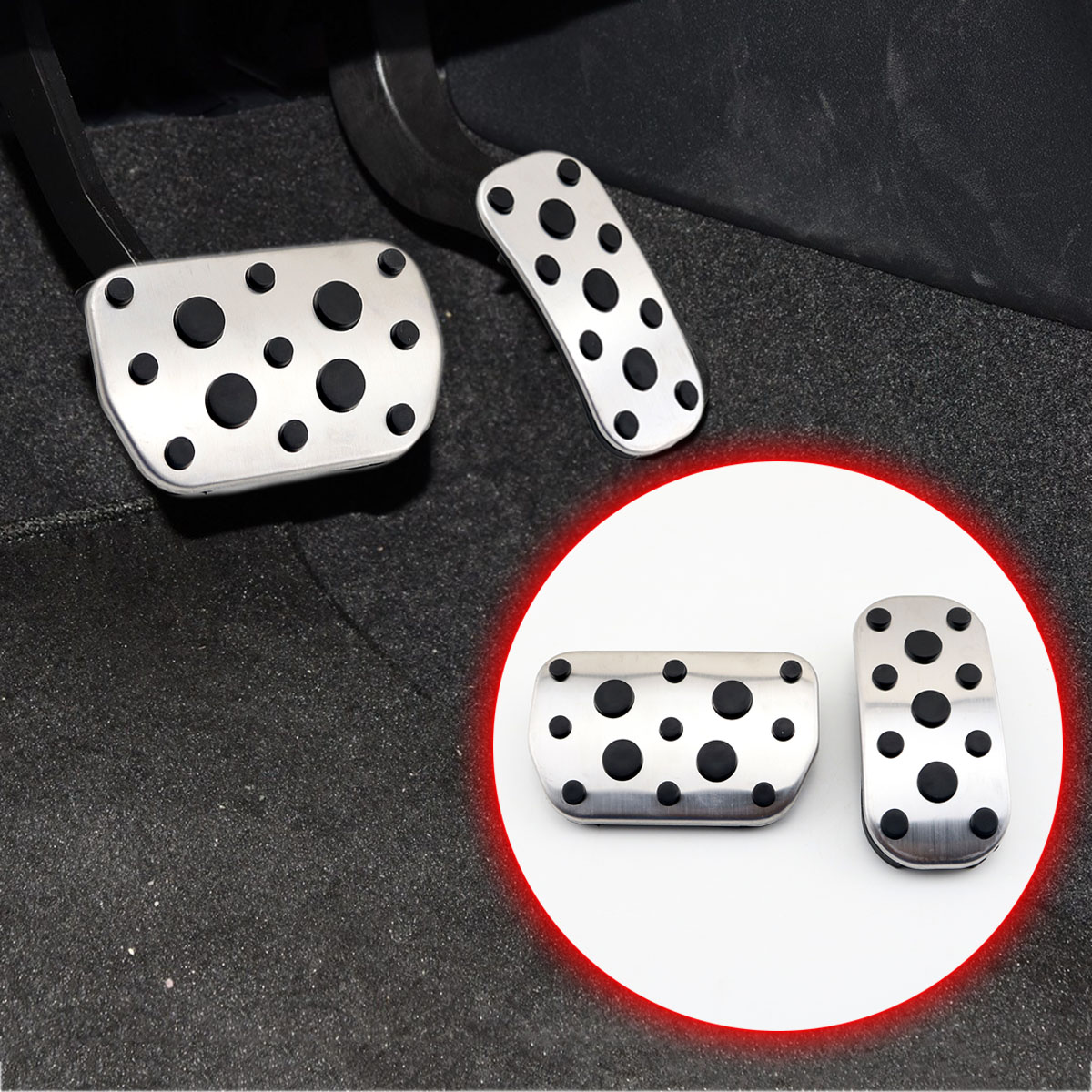 Aluminum car pedals for CHR C-HR Gas Brake Pedal Guard Cover Accessories