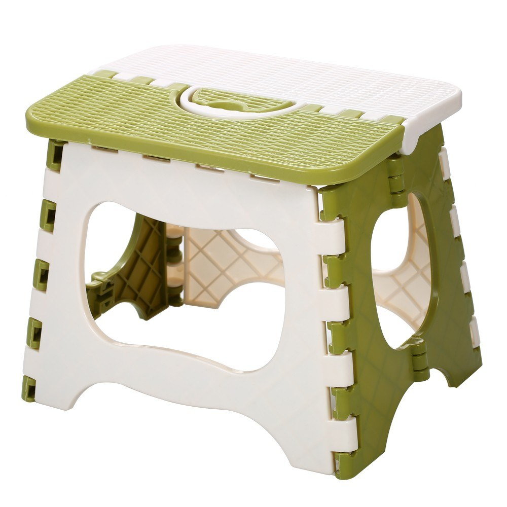 Plastic Folding Step Stool Portable Folding Chair Small Bench for Children and Home Use