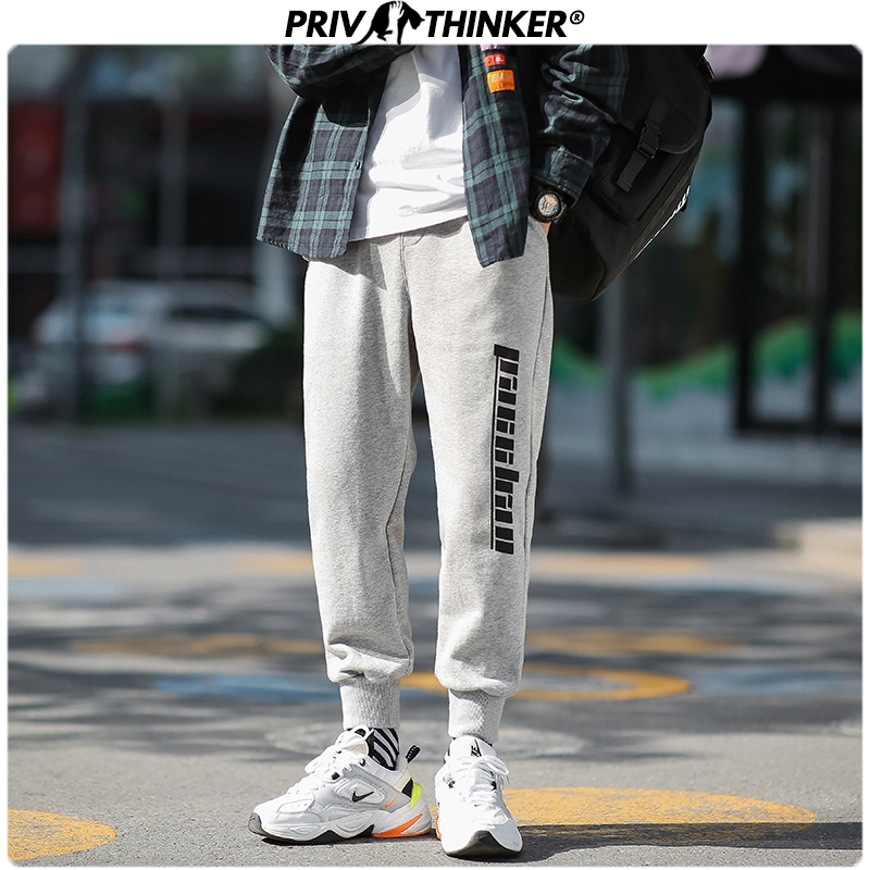 Privathinker Men Spring Loose Black 2020 Casual Pants Men Collage Hip Hop Joggers Male Fashion Trousers Streetwear Sweatpants
