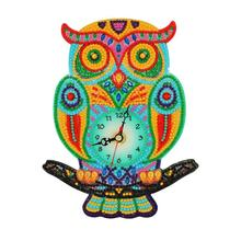 DIY Diamond Painting Full Special Shaped Drills Embroidery Wall Owl Clock Home Decoration Accessories