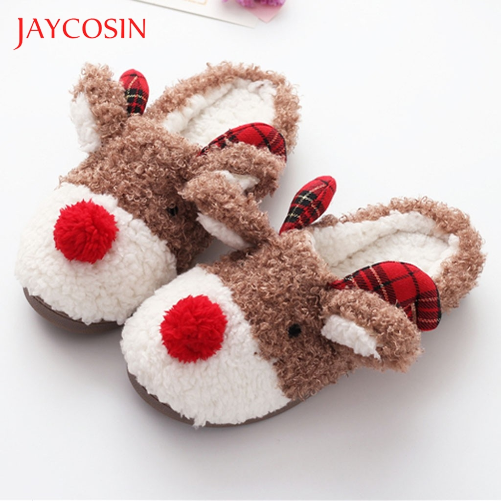 Jaycosin Warm Winter Home Slippers Women Indoor Home Shoe Cute Soft Plush Ball Women Interior Cotton Snow Slippers Slides shoes 1
