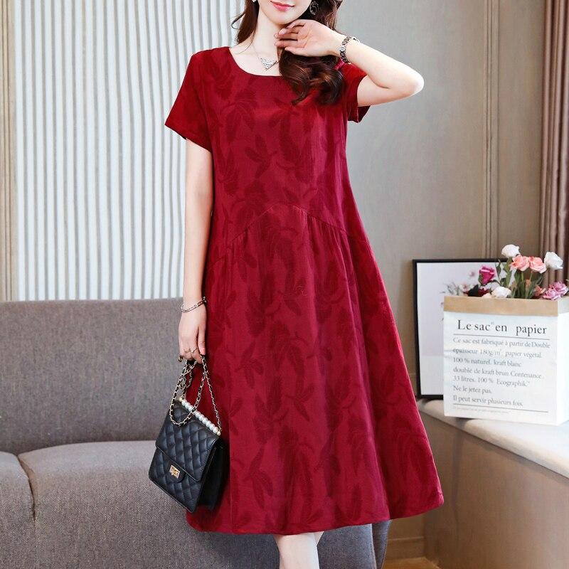 Летнее цветочное женское платье в Корейском стиле; Повседневные Вечерние платья с короткими рукавами; Винтажное платье трапециевидной формы с круглым вырезом и карманами|Платья|   | АлиЭкспресс
